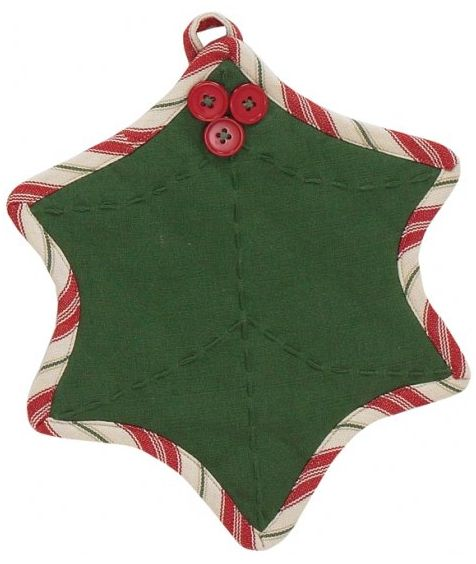 Holly Dots Potholder