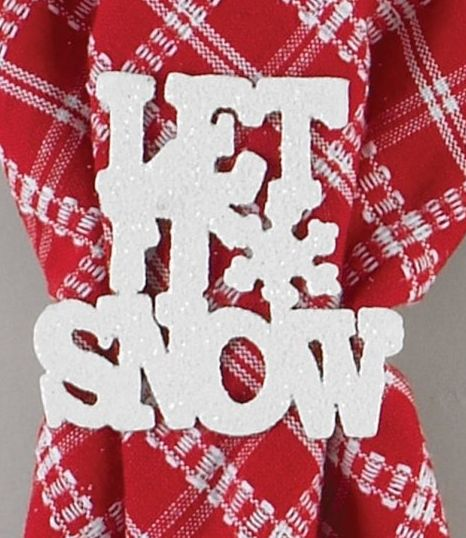 let it snow kitchen linens
