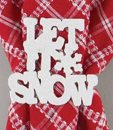 let it snow kitchen linens