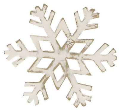 White Snowflake Napkin Ring