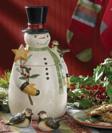 Winter Magic cookie jar
