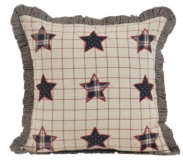 Bingham Star fabric applique pillow