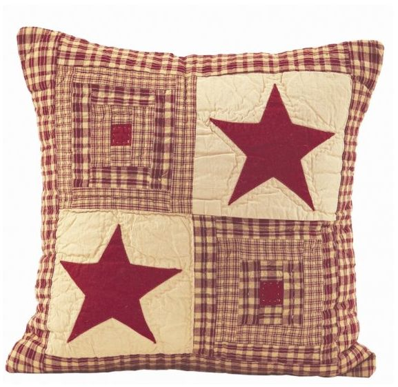 Vintage star wine quilted pillow