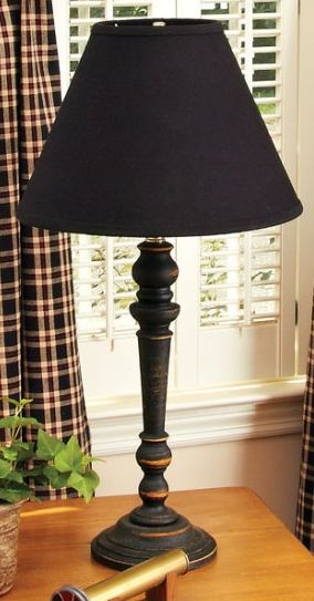 Delightful Wilmont Balck Wooden Table Lamp