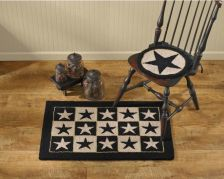Black star hooked chair pad
