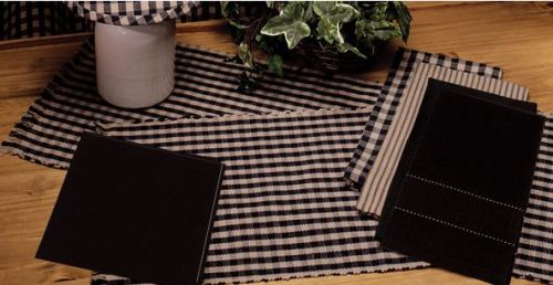 Heritage House check black table runner
