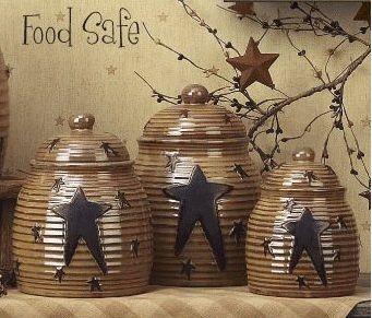 Primitive Küchen Kanister Sets
