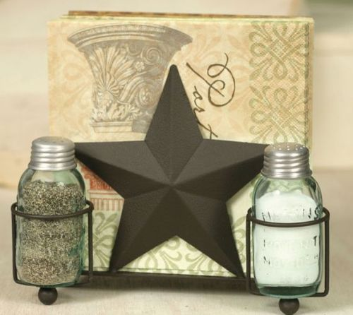 Star salt and pepper caddy