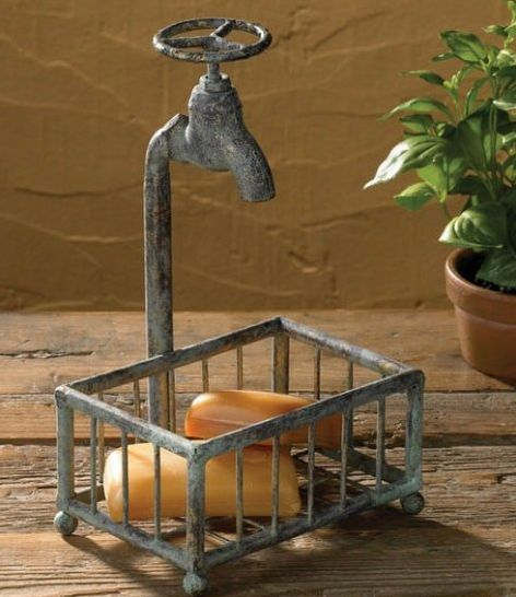 water faucet soap basket