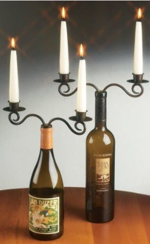 wine bottle stopper candelabra set