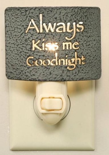 Always Kiss Me Goodnight nightlight