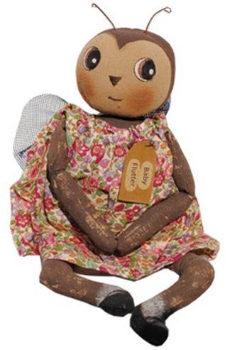 baby flutter primitive doll