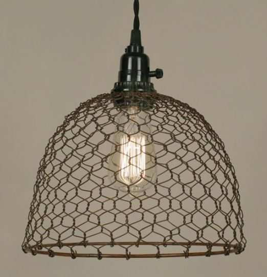 Chicken wire dome light