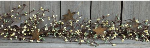 Coffee bean berry and star garland