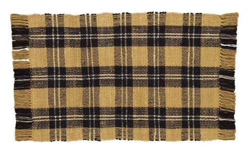 Cornbread plaid table runner