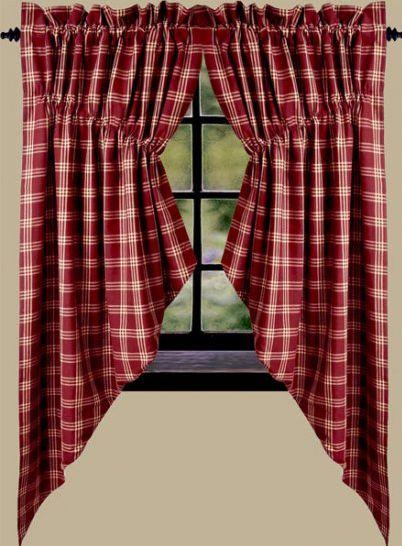 red plaid kitchen curtains home design 2017