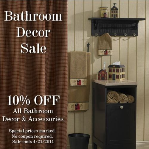 Primitive home bath primitive home decors for Bathroom accessories sale