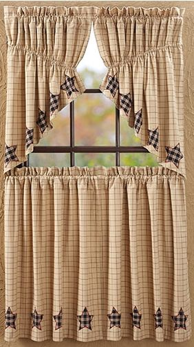 Bingham star applique curtains
