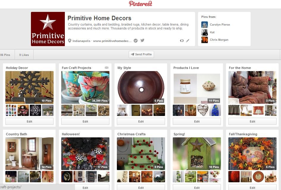 Primitive Home Decors on Pinterest