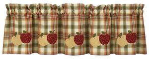 Apple lined valance