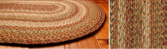 Harvest braided jute rugs