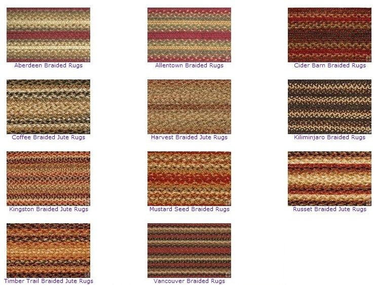 braided jute rugs from Primitive Home Decors