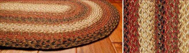 Russet braided jute rugs