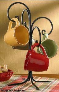 Scroll mug rack