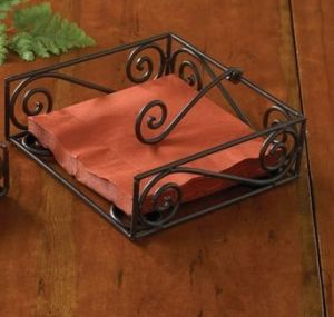village luncheon napkin holder