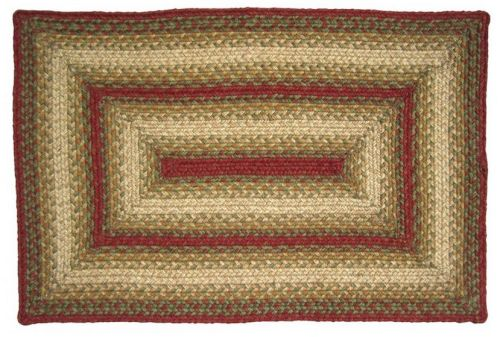 Aberdeen rectangular braided rug