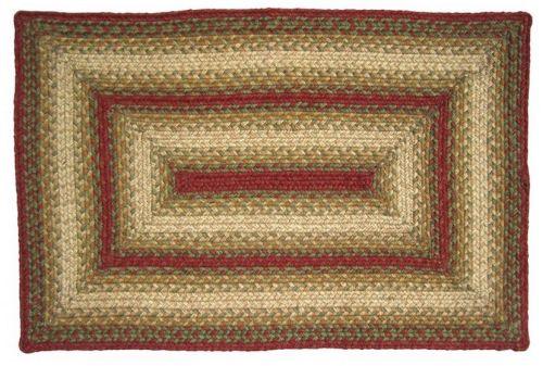 Aberdeen rectangular braided rug