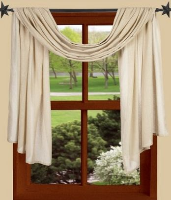 Heirloom cream window treatments