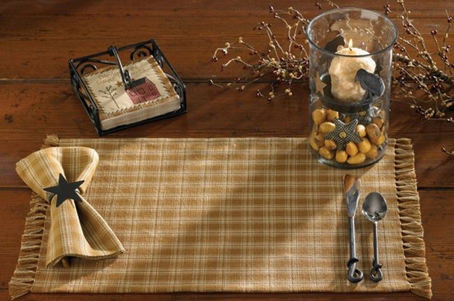 Sturbridge mustard kitchen linens
