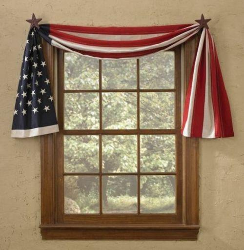 Flag fishtail swag curtain