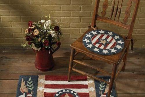 Patriotic hooked chair pad