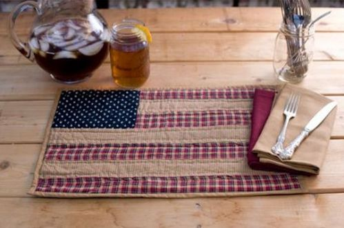 Patriotic Patch quilted place mat