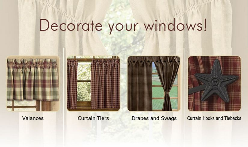 window treatments | Primitive Home Decors