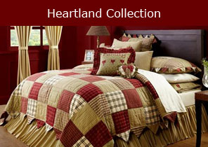 Heartland quilted bedding collection