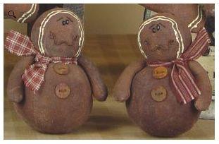 Gingerbread man ornament set