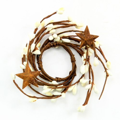 KMI-4263A-CR-Cream-Berry-Taper-Candle-Ring-with-Stars-LRG