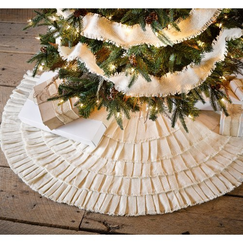 VHC-CRS-10352-Large-Cream-Ruffled-Burlap-Tree-Skirt-LRG