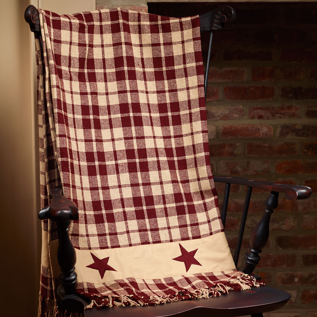 CHC-92639-Burgundy-Farmhouse-Star-Throw-LRG