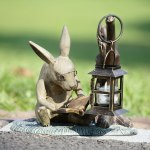 SPI-33778-Booklover-Rabbit-Garden-Lantern-LRG