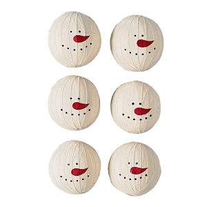 pkd-22-741-set-of-6-large-snowman-rag-balls-lrg