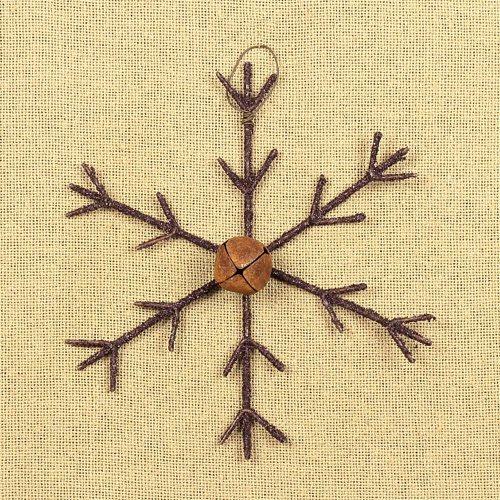 ham-c14460-medium-rustic-snowflake-with-bell-ornament-lrg