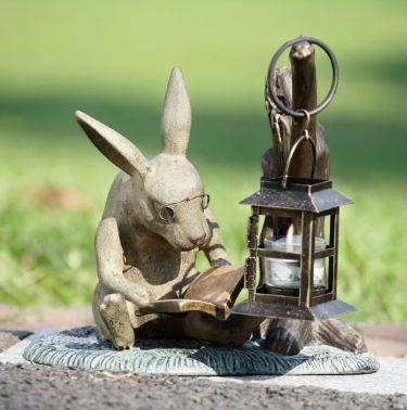 book-lover-rabbit-garden-lantern