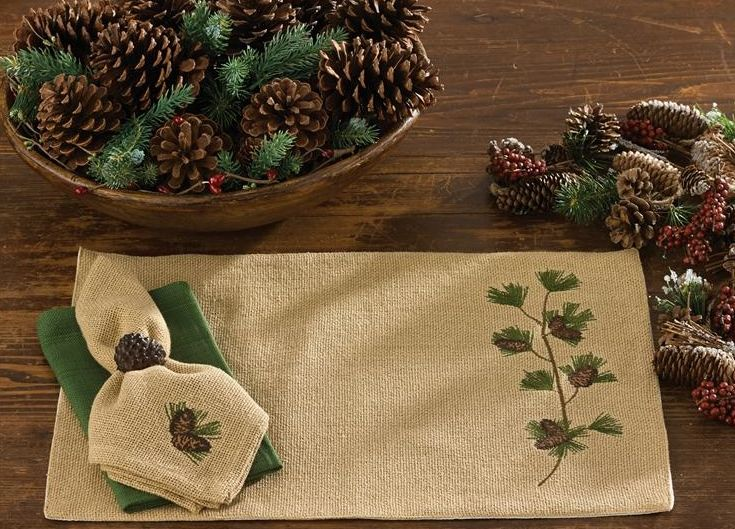 burlap-and-pine-napkin