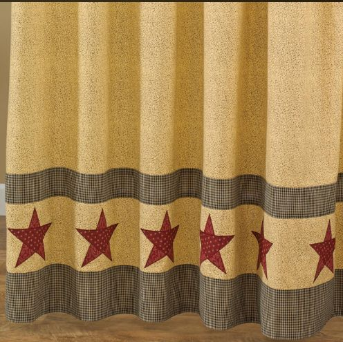 country-star-shower-curtain