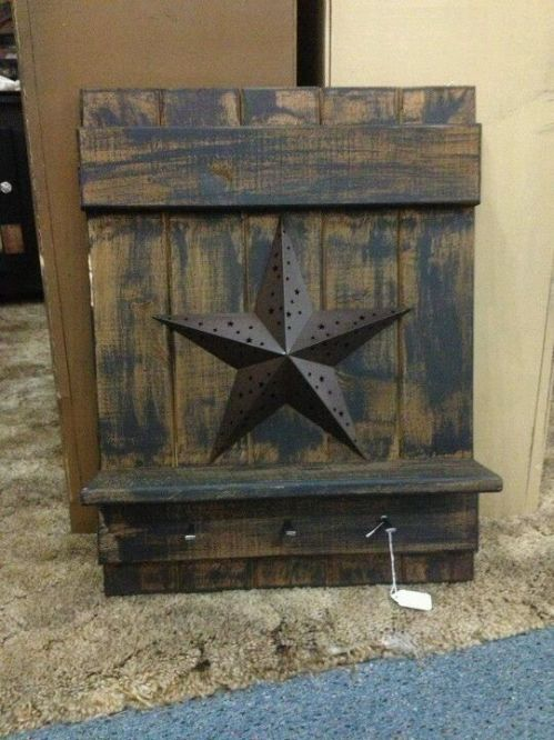 5 crafts you can do with our metal barn stars primitive for Barn star decorations home