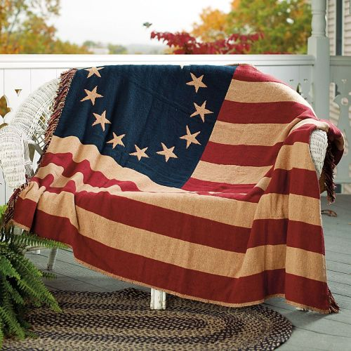 American flag decor primitive home decors - Flag decorations for home ...